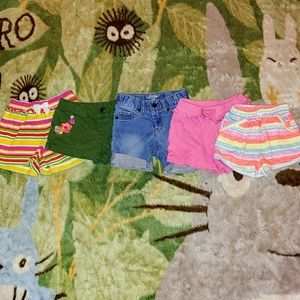 EUC Bundle of 5 Girl's 3T Shorts